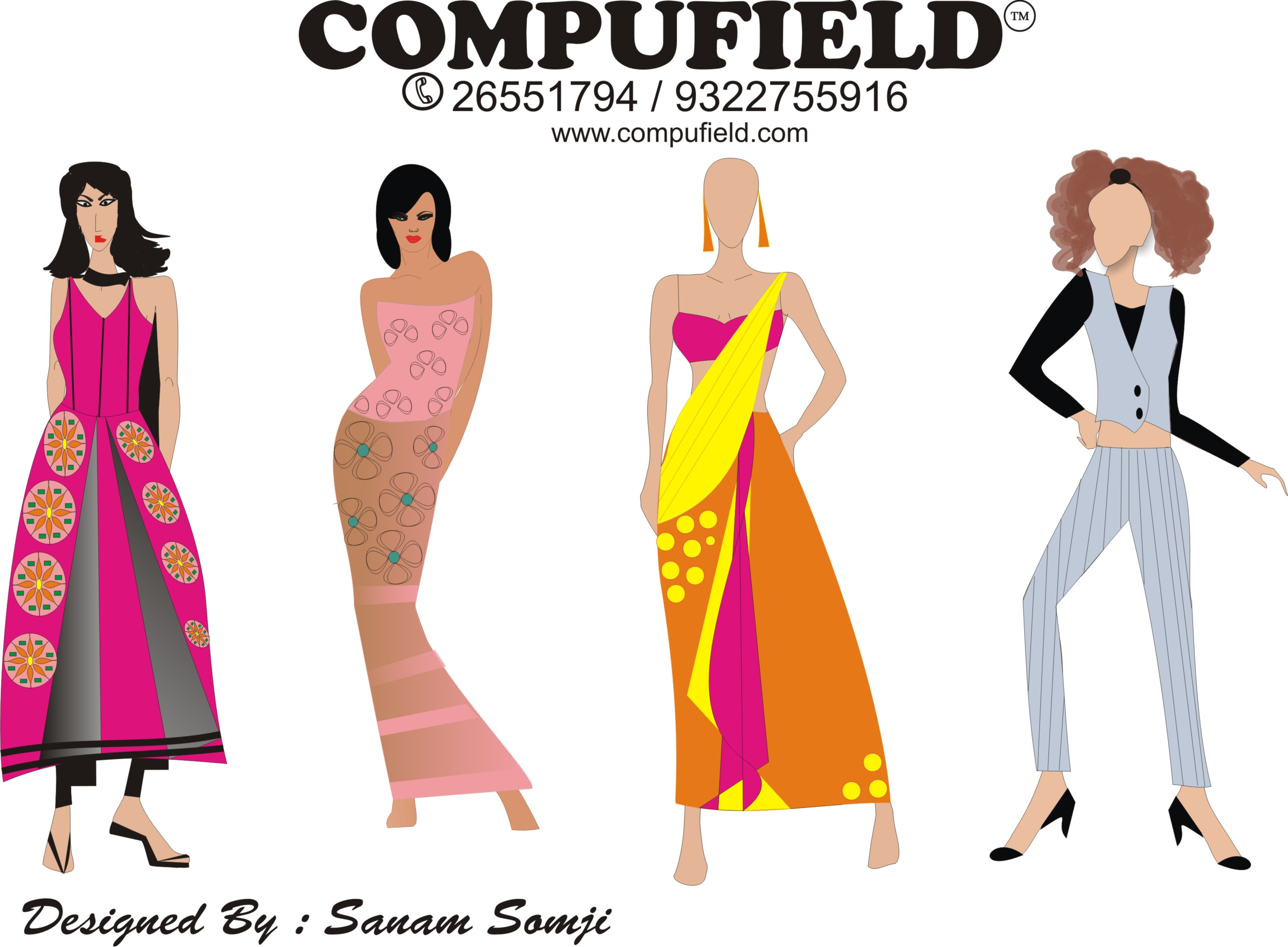 Free Dress Sketches For Fashion Designing Summer Dress