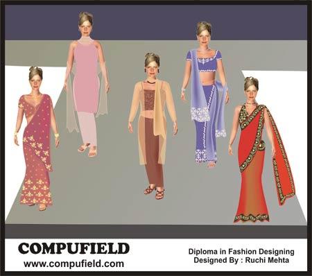 Learn To Design Computer Aided Fashion Illustration Using Coreldraw Photoshop Illustrator