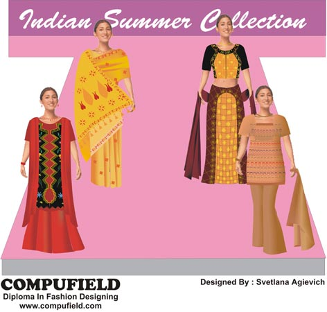 Computer Aided Creative Fashion Designing Course In Bridal Wear India Mumbai
