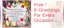 Free E-Greetings For Every Occasion...