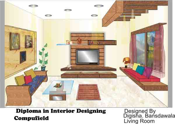 institute offer course in interior designing decoration using