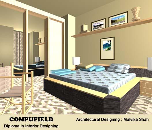 institute offer course in interior designing decoration using