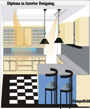 Training short term interior design and decoration using autodesk autocad 3d studio max cad Kitchen design cad courses